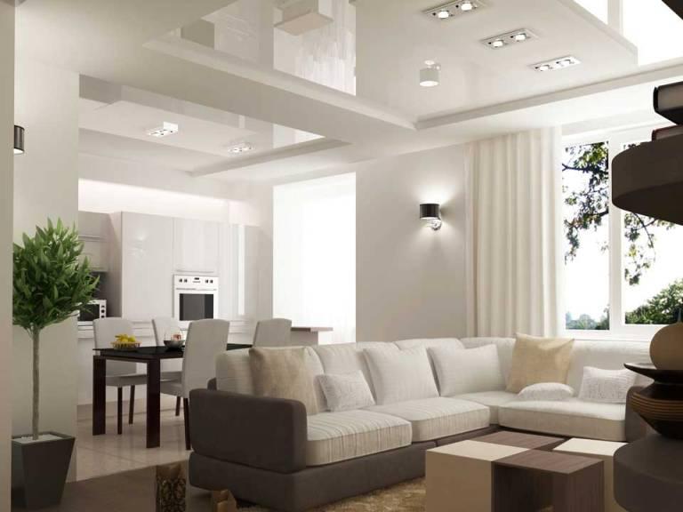 Потолки в гостиную